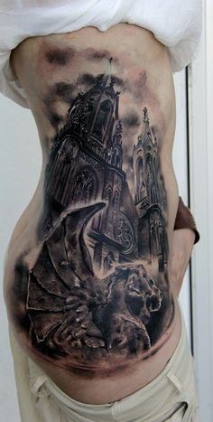 12 Artistic Church And Cathedral Tattoos