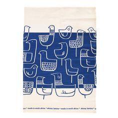 Eep Royal Blue tea towel by Skinny laMinx Indigo, Little Monkeys, Color Of The Year, Tree Branches, Tea Towels, Screen Printing, Art Pieces, Fancy, Skinny