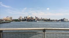 View of brooklyn bridge heights from south street seaport