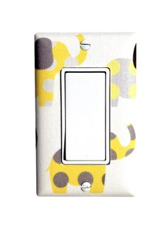 Yellow+and+Gray+Elephant+Nursery+Decor+/+Rocker+by+SSKDesigns,+$16.00