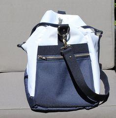 Le sac Boston version sac de sport cousu par Elisabeth. Patron de couture Sacôtin