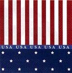 """Stars & Stripes """"USA"""" Beverage Napkins (16) (($))"""