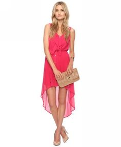 Hot pink + high-low hem = yes! $27.80