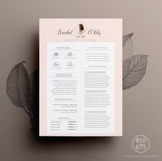 "Resume CV Design + Cover Letter Template for Word | Instant Digital Download | The ""Madame"" by OddBitsStudio on Etsy https://www.etsy.com/listing/197452770/resume-cv-design-cover-letter-template"