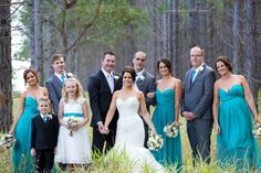 Bridal party in the forest. www.lanicarter.com