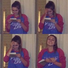 The look on Sadie's face when she reads letters from Blake Coward.