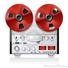 Vintage Stereo reel to reel tape deck recorder by Viktor Gmyria, via Dreamstime