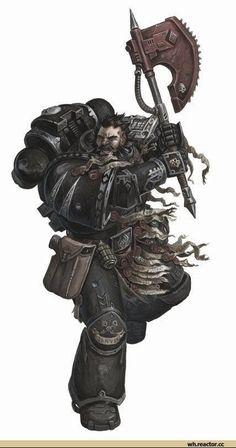 Warhammer Deathwatch, Warhammer 40k Art, Warhammer 40k Miniatures, Space Marine, Space Wolves, The Grim, Sci Fi Fantasy, Character Illustration, Angel Of Death