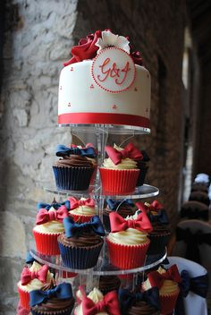 24 X 90TH BIRTHDAY RED EDIBLE CUPCAKE TOPPERS PREMIUM RICE PAPER 1870