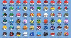 different types of pokeballs