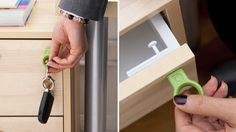 Quirky's Invisible Drawer Locks Only Open With a Magnetic Key - http://gizmodo.com/5876136/quirkys-invisible-drawer-locks-only-open-with-a-magnetic-key