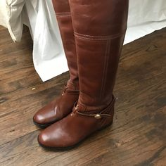 I just discovered this while shopping on Poshmark: Tory burch riding boots. Check it out! Size: 7.5, listed by emerycowell