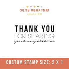 """Photography Stamp- """"thank you for sharing your day with me""""  Perfect for client packages and cute tags!"""