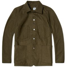 Since their debut in 1993, workwear label Post Overalls have continued to produce American vintage designs, inspired especially from 1920s and 1930s work garments. Each piece is manufactured in the USA with the essence of functional garments – such as military and outdoor pieces all evolved from a work wear platform. The Engineers Jacket is crafted from a substantial Wool/Nylon blend, featuring front patch pockets with a button down closure, finished with a double button throat tab and…