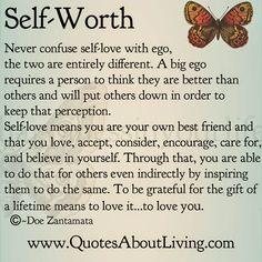 Quotes About Living - Doe Zantamata: Self-Worth Love vs Ego