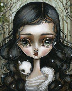 8x10 Fine Art Print-The Magic Forest por FairRosamund en Etsy