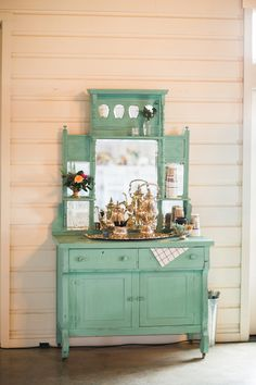 coffee bar with sterling silver - photo by Allen Tsai Photography http://ruffledblog.com/charming-eclectic-wedding-in-texas