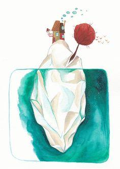 Illustration by Emma Fragola Wonderlandscape - Surréal world