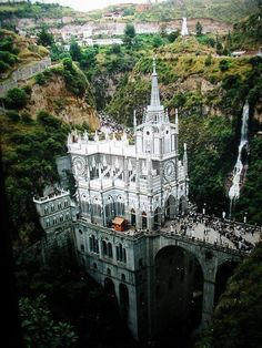 Las Lajas Sanctuary is a basilica church located in the southern Colombian region of Nariño, municipality of Ipiales and built inside the canyon of the Guáitara River.