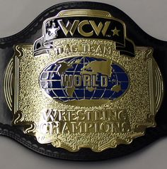 wcw tag team championship belts | ... WCW CLASSIC TAG TEAM CHAMPIONSHIP ADULT SIZE REPLICA WRESTLING BELT