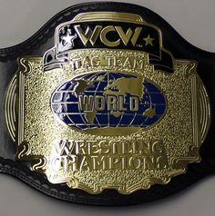 wcw tag team championship belts   ... WCW CLASSIC TAG TEAM CHAMPIONSHIP ADULT SIZE REPLICA WRESTLING BELT