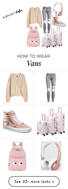 """Simple"" by accidentallytwinning on Polyvore featuring AMIRI, Vans, Urbanista, H&M, Ted Baker, Anya Hindmarch, pastel and airportstyle"