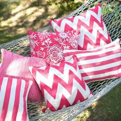 Bruinenberg Ontiveroz and Albert Rug Company Chevron Fuchsia Indoor/Outdoor Pillow available at Nasafi Grayce Indoor Outdoor Rugs, Outdoor Pillow, Outdoor Spaces, Outdoor Living, Outdoor Cushions, Outdoor Fabric, Dash And Albert, Rug Company, Braided Rugs