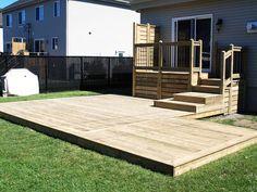 Super Ideas For Patio Exteriores Con Piscina Small Backyard Decks, Small Patio, Patio Steps, Backyard Patio Designs, Small Deck Designs, Patio Makeover, Building A Deck, Concrete Patio, Landscaping