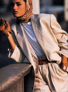 """Oh Boy… Quel Chic!"", Elle International S/S 1985 Photographer: Marc Hispard Model: Yasmin Le Bon"