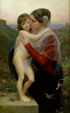 Lionel Royer -Madonna and Child