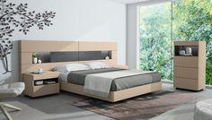 Dormitorio moderno 070a. Muebles acabados en chapa natural de roble nórdico y antracita poro roble