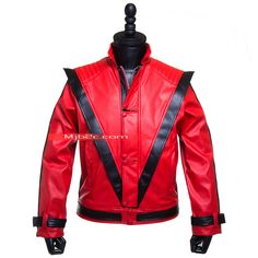 michael jackson-thriller costume Michael Jackson Thriller Costume, Michael Jackson Costume, Motorcycle Jacket, Costumes, Jackets, Fashion, Down Jackets, Moda, Dress Up Clothes