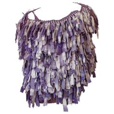 Avant Garde 1980s Purple Fringe Top 1