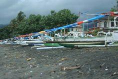 Vissersboten op Lombok Indonesië