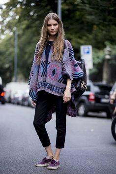Model street style at Milan fashion week spring/summer '15 gallery - Vogue Australia