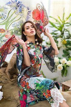 lawn Design Pakistani - Lawn dress by nabeel asifa ModelL 1624 Eid Dresses, Pakistani Wedding Dresses, Pakistani Dress Design, Pakistani Outfits, Fashion Dresses, Casual Dresses, Cotton Dresses, Pakistani Dresses Online Shopping, Online Dress Shopping