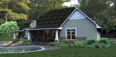 House Plan 65875 | Bungalow Cottage Country Tuscan Plan with 2267 Sq. Ft., 3 Bedrooms, 3 Bathrooms, 2 Car Garage