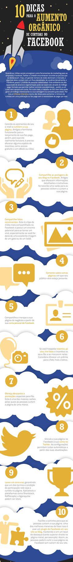 Alcance orgânico no #Facebook. #Infográfico #Marketing