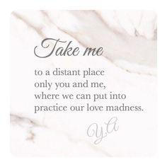 Llevame a un lugar lejano solos tu y yo, donde podamos poner en practica nuestras locuras de amor. #writer #writersnetwork #writerscommunity #novelwriters  #writersofinstagram #poetry  #writersofig #poetsofinstagram #quotes #wordsofwisdom #lovequotes #lifequotes #positivevibes #writersblog #ya.3am #wordswithqueens #poetrycommunity  #wordswithkings #wordporn #awakening #beautifulthoughts #heart  #followyourheart #deepquotes #creativewriting #fictionbook #romance  #romancebook #expression…