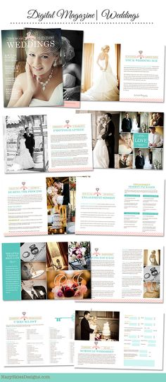 How To Advertise Your Wedding Photography Business: 108 Best Wedding Magazine Layout Images