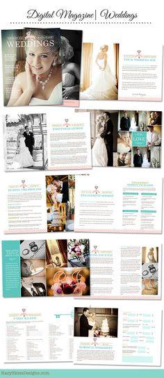 Wedding Magazine Layout