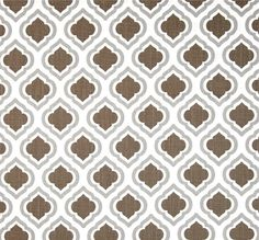 Brown & Grey Fabric, Modern Geometric Home Decor Fabric by the Yard, Designer Drapery or Upholstery Fabric, Brown Cotton Home Decor Fabric
