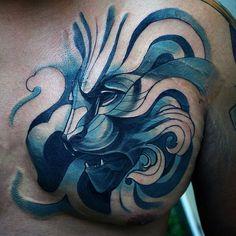 70 Lion Chest Tattoo Designs For Men Lion Chest Tattoo 4b6387fea