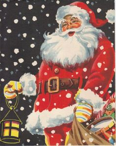 Santa.....love this vintage picture