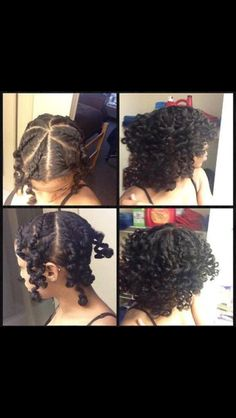 Natural hair style.  I like this method of styling to achieve this look.. Very simple.  Will be trying this one out!