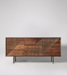 Sideboard, mid-century style in Acacia & Charcoal - Furniture Design, Mid Century Sideboard, Living Furniture, Open Plan Kitchen Living Room, Furniture, Furniture Inspiration, Modern Wood Furniture, Home Decor, Living Room Furniture