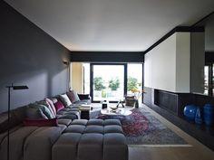 Love the sofa. Probably costs a million bucks.