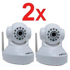 Special Offers - 2 Pack Foscam FI8918W Wi-Fi IP Camera Pan:300& Tilt:120 Freely control IR-LED on/off and High image & video quality2-way audionight version -White - In stock & Free Shipping. You can save more money! Check It (July 25 2016 at 03:30PM) >> http://motionsensorusa.net/2-pack-foscam-fi8918w-wi-fi-ip-camera-pan300-tilt120-freely-control-ir-led-onoff-and-high-image-video-quality2-way-audionight-version-white/