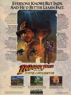Indiana Jones and the Fate of Atlantis. I must find this game and play it. Looks interesting.