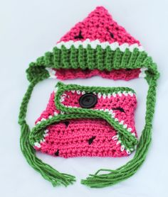 Newborn Crochet Hat and Diaper Cover  by RolliePollieBoutique, $50.00